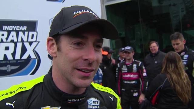 La réaction de Simon Pagenaud à Indy