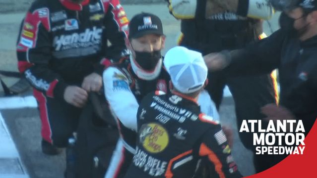 Fight breaks out between Gragson, Hemric