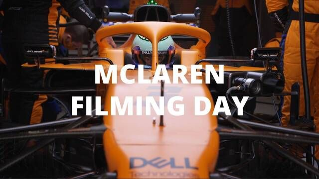 First run with the MCL35M for Norris and Ricciardo