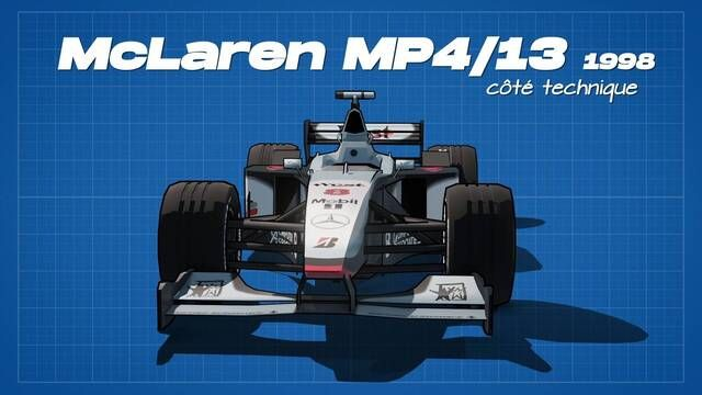 La McLaren MP4/13 de 1998 côté technique