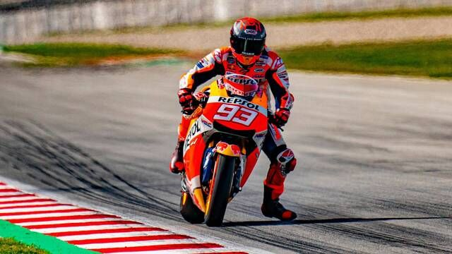 Marc Márquez's first ride after his injury