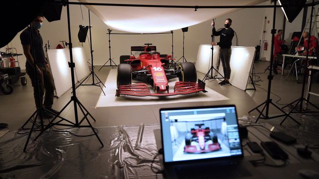 Les coulisses du shooting photo de Ferrari