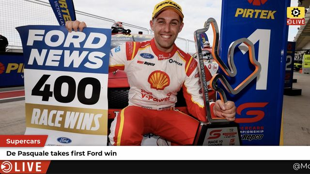 Supercars: De Pasquale scores first Ford win
