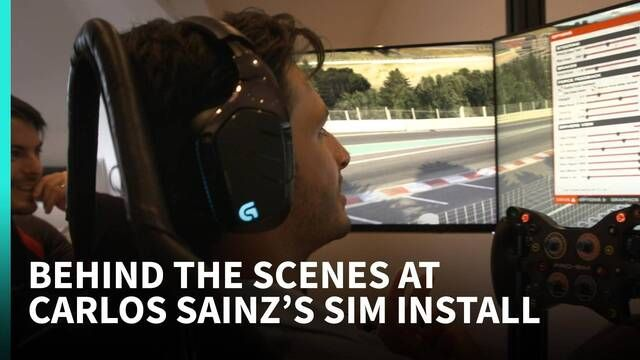 Behind the Scenes with Carlos Sainz's Sim install