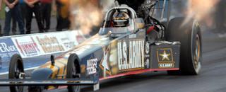 NHRA Schumacher walks away from wrecked dragster