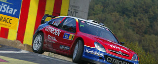 WRC Loeb in first after three-way battle in Rally Catalunya