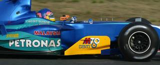 Formula 1 Villeneuve's turn at top of test times