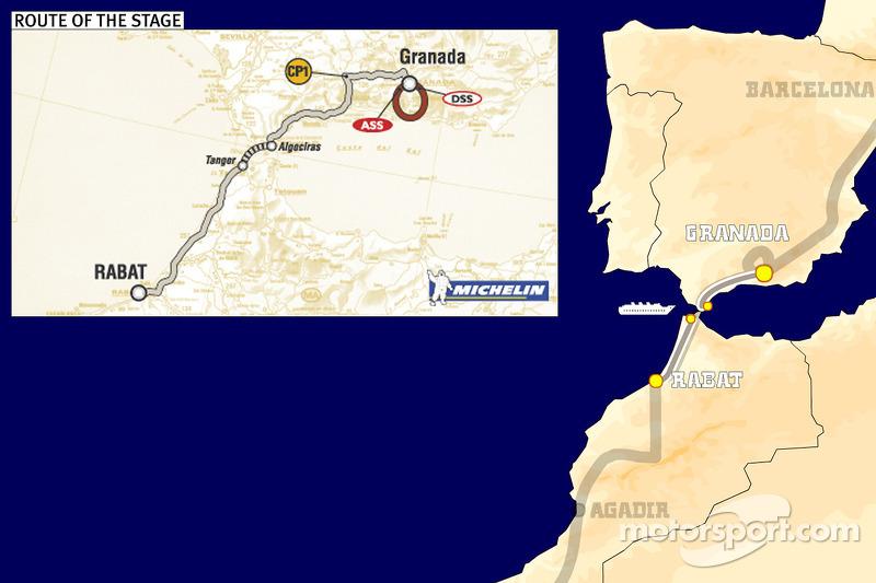 Dakar: Stage 3 Granada to Rabat notes