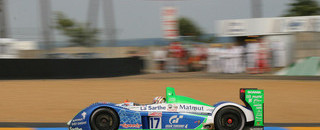 Le Mans Ayari crashes #17 Pescarolo in 24H