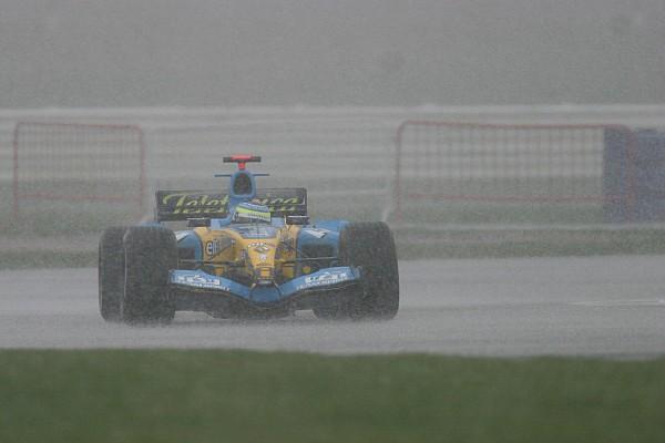 Fórmula 1 En 2005 también nevó en los test de F1 en Silverstone