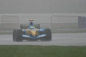 Fórmula 1 Historia En 2005 también nevó en los test de F1 en Silverstone