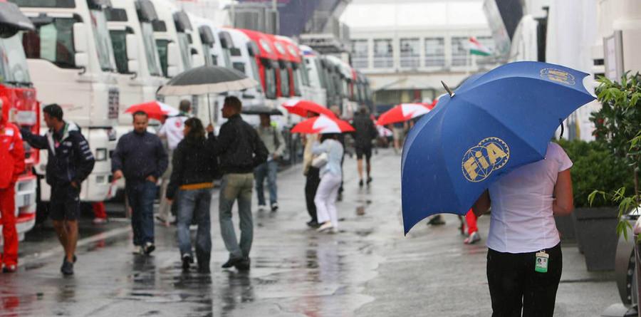 Rain or shine at the Hungaroring?
