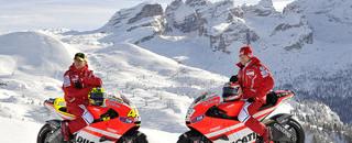 MotoGP Ducati in the spotlight at Wrooom Ski Meeting