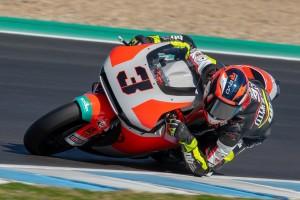 Rookie Lukas Tulovic dreht mit der neuen Moto2-KTM in Jerez Runden
