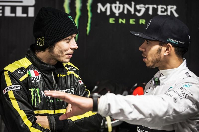 Valentino Rossi im F1-Mercedes: Monster plant PR-Coup mit Lewis Hamilton