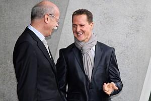 Formula 1 Daimler chief Zetsche backs Schumacher return