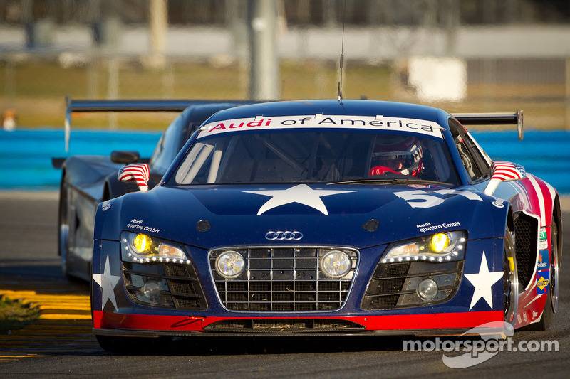 Factory Audi R8 completes successful first test at Daytona