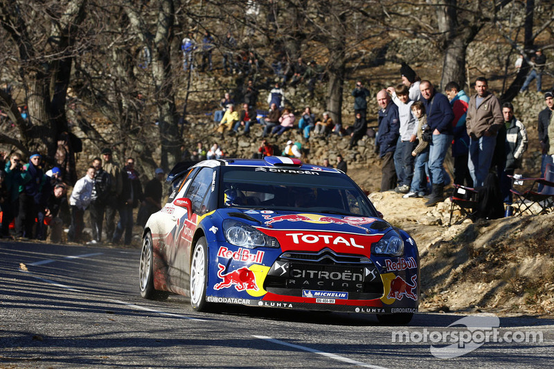 Loeb stays on top in Monte Carlo Rally's second leg