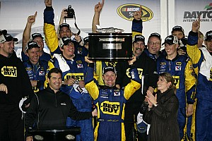 NASCAR Cup Matt Kenseth holds his Daytona 500 winner's teleconference