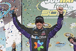 NASCAR Cup Hamlin takes his first win on the Phoenix tri-oval