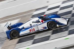 ALMS Marsal tests Dyson Mazda at Sebring