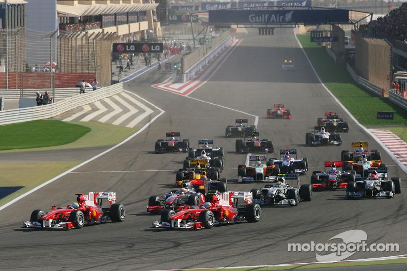 Ecclestone, team bosses, say Bahrain going ahead