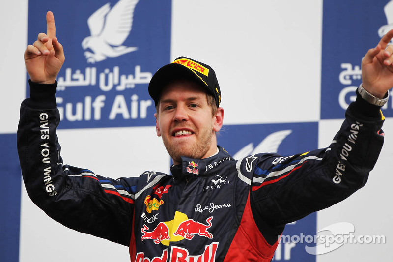 Vettel back on top with his first win of 2012 in Bahrain Grand Prix