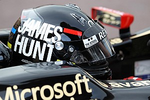 Formula 1 Raikkonen wears James Hunt helmet in Monaco