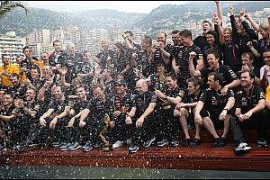 Formula 1 Red Bull Racing celebrates third straight Monaco GP win