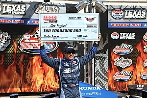 IndyCar Tagliani grabs back-to-back Texas Motor Speedway poles