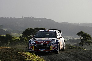 WRC Leg report Loeb holds slight edge over Hirvonen on day one in New Zealand
