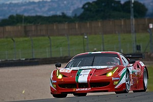 European Le Mans Race report Perazzini-Cioci-Griffin are second in GTE Am at Donington