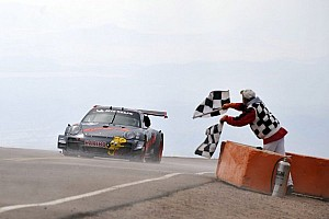 Hillclimb Race report Mission accomplished for Romain Dumas at Pikes Peak