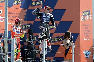 MotoGP Race report Lorenzo seals victory in drama packed Misano GP