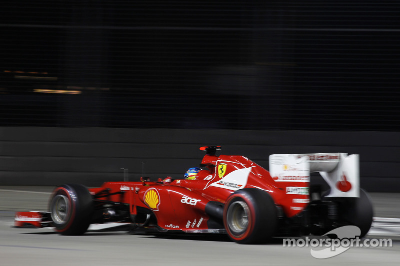 Alonso and Massa both on 13 in Singapore