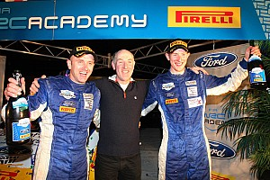 WRC Leg report Evans wins 2012 WRC Academy with Pirelli