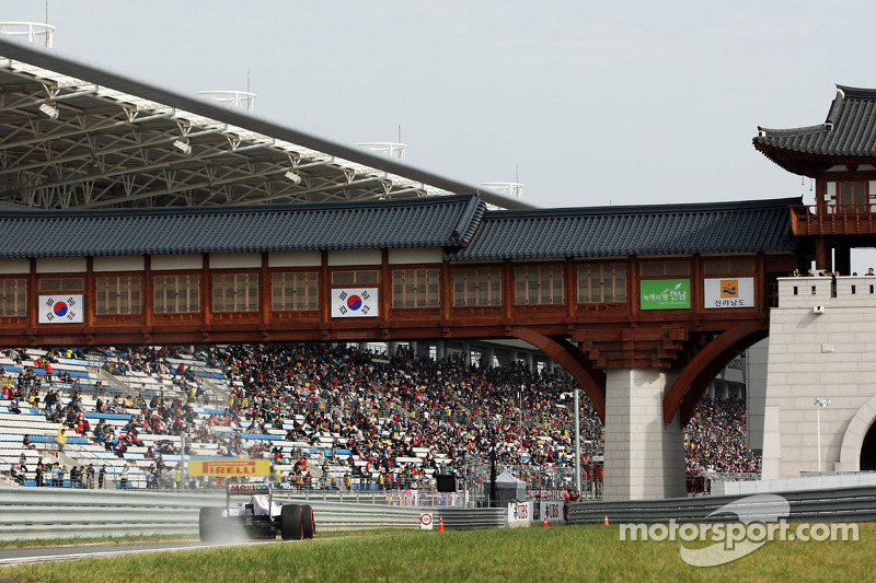 Sauber out of the top ten qualifying for the Korean Grand Prix