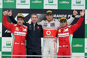 Formula 1 Race report Button sails to season finale victory in rainy Brazilian Grand Prix