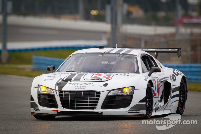 WeatherTech Racing Audi R8 qualifies sixth for Rolex 24 at Daytona