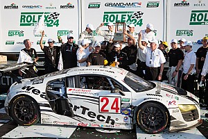 Grand-Am Race report WeatherTech Racing Audi R8 wins GT title in Rolex 24 at Daytona