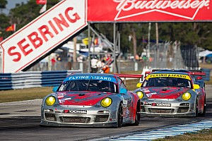 ALMS Race report Flying Lizard Finishes 2nd and 9th in Season Opener in Sebring