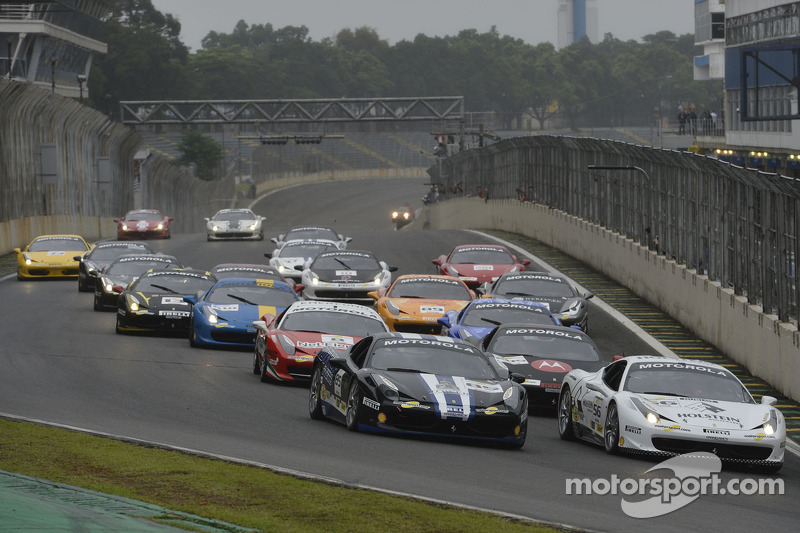Valera and Farano split the Ferrari Challenge wins at Interlagos