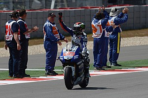 MotoGP Qualifying report Lorenzo celebrates birthday with perfect pole in Jerez
