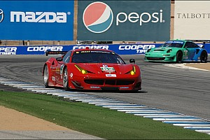 ALMS Qualifying report Malucelli claims GT pole in his first ALMS qualifying session at Laguna Seca