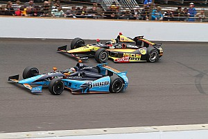 IndyCar Race report Brush with turn one wall ends Tagliani's charge at Indy