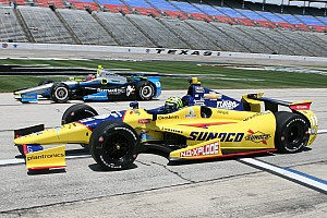 IndyCar Race report Kanaan earns a podium finish at TMS; De Silvestro penalized finishes 16th