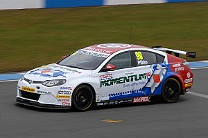 BTCC Testing report MG pair dominate Snetterton testing