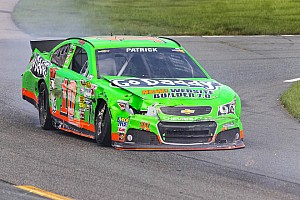 NASCAR Cup Race report Late accident ends Patrick's day early in Loudon