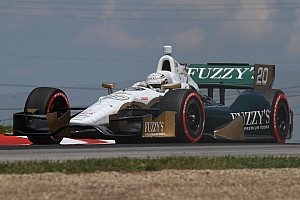 IndyCar Qualifying report Contact by rookie hampers Carpenter's Mid-Ohio qualfiying effort Saturday