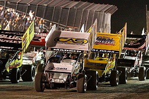 World of Outlaws Race report Madsen dominates on Friday at Castrol Raceway, Kinser triggers chain reaction crash